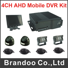 4CH Car Mobile Fleet DVR For Vehicle Truck Taxi Bus Support Dual SD Card
