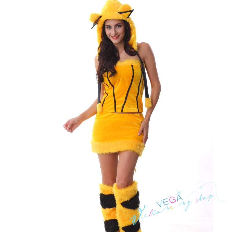 Halloween Costume For Women Adults Sexy Pikachu Costume -5313