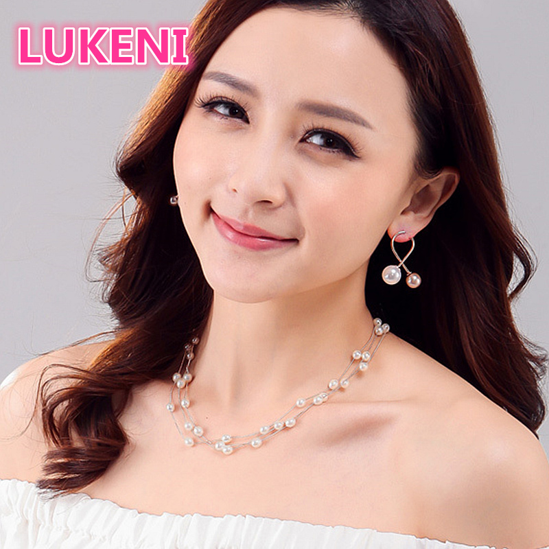 Luxury Pure Multiple Layers S925 Sterling Silver Perfect Natural Pearl Necklace Fashion Necklace For Women
