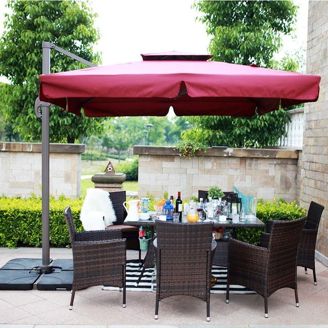 outdoor patio umbrellas rome umbrella stroller folded large square banana furniture tables and chairs combination - Outdoor Patio Umbrellas
