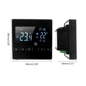 Image 5 - LCD Touch Screen Thermostat Electric Floor Heating System Water Heating Thermoregulator AC85 240V Temperature Controller 110V 22