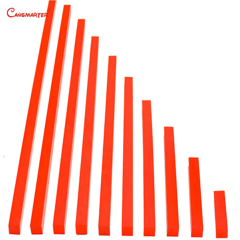 Pratiques de comptage rouge tiges pour enfants 3-6 ans Standard professionnel mathématiques jouets aides pédagogiques Montessori matériaux SE011-NX3
