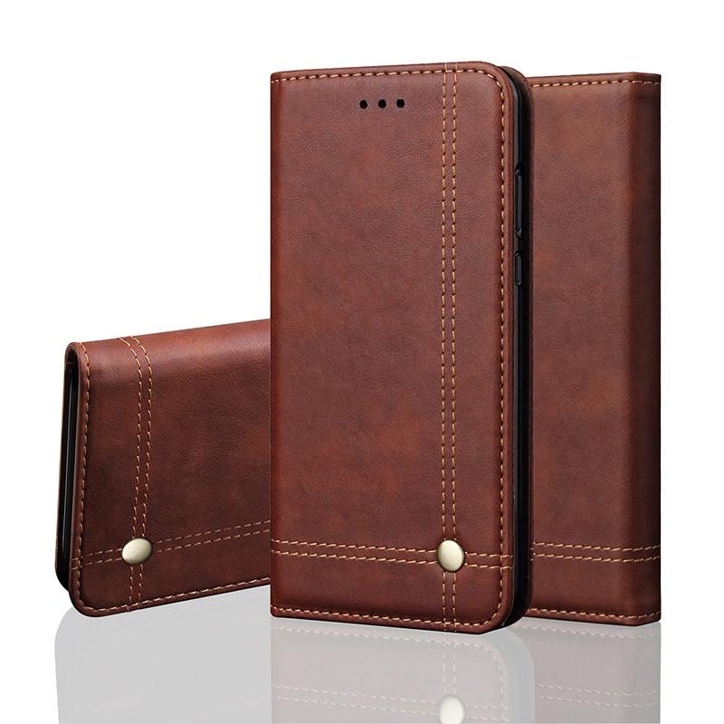 Vintage Leder Telefon Fall Für iPhone X XR XS Max 8 Plus Flip Fall Magnetische Brieftasche Abdeckung Fällen Für iPhone 6 6 s 8 7 Plus 5 5 s SE