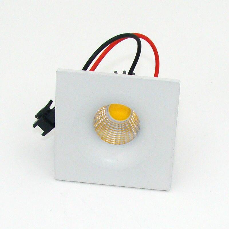 Светодиодные светильники 3 Вт удара мини светодиодный прожектор площадь Кабинет светильника площади глазного яблока карданного кольцо Бел...