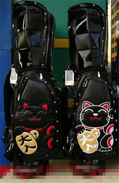 2017 New Winwin Golf Bags Men High Quality Pu Staff Bag With Fortune Cat Fashion