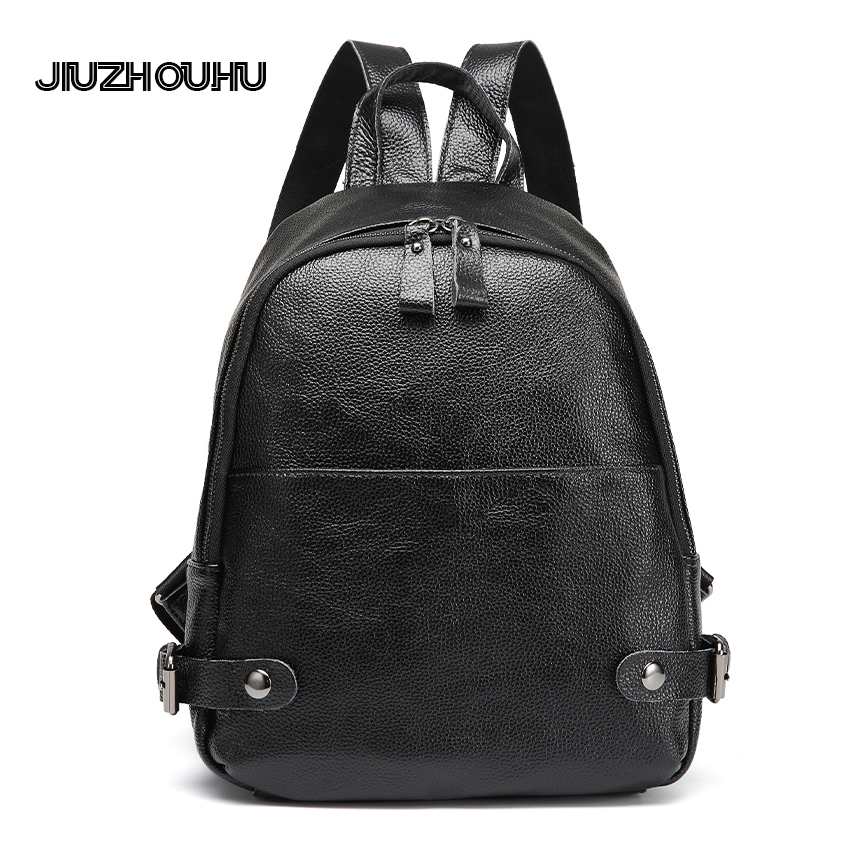 2017 Brand Designer Fashion Casual Women Genuine Leather Backpack Ladies Real Leather Knapsack Female Travel Shoulder