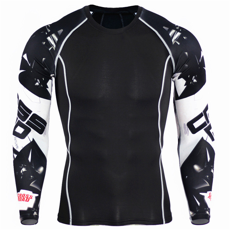Men Running Sport Compression T Shirt Set