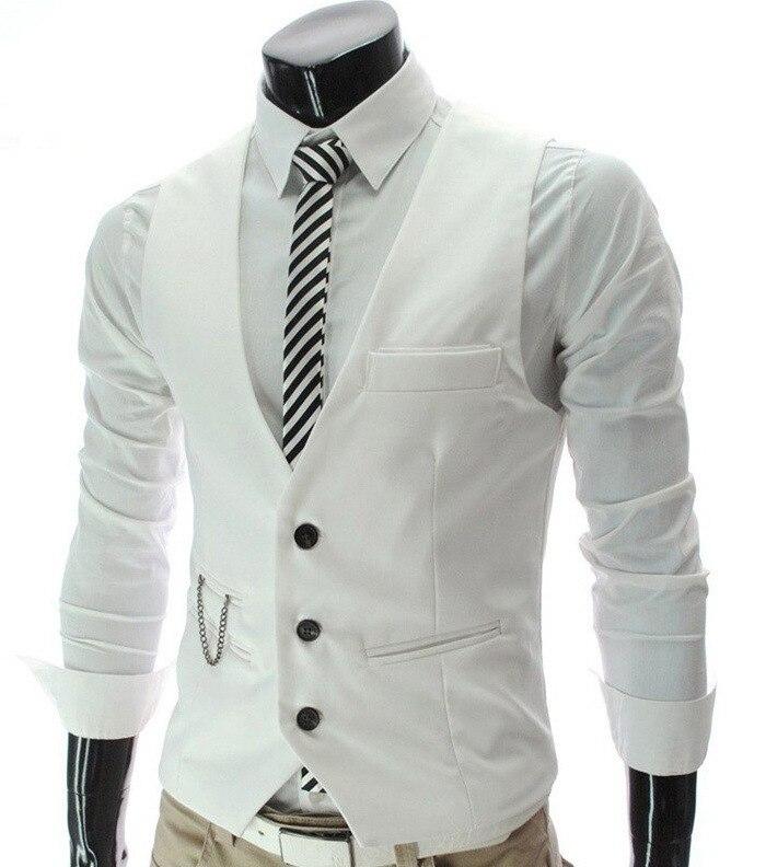 100% Wahr Vintage Männer Anzug Weste 2019 Neue Ankunft Slim Fit Mode Designer Marke Formal Business Kleid Weste