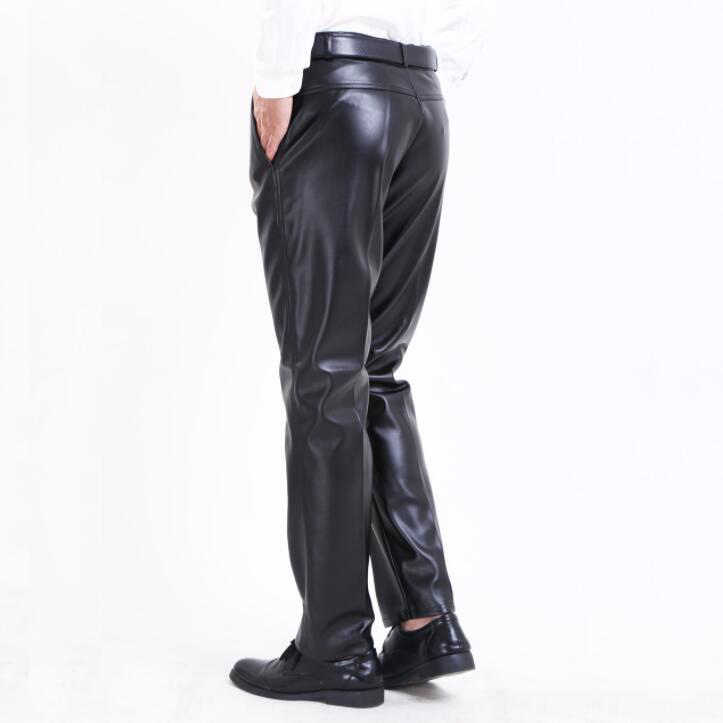 52b0658f8c7 ...  2204 Spring 2018 Plus size 29-42 Straight Pantalon homme Faux leather  pants men ...