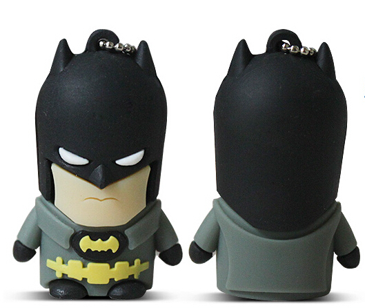 Hero Bat Man USB Flash Drive usb 2.0 stick pendrive 16g Thumb/Car key/Pendrive U Disk/Gift souvenir 4GB-64GB Real capacity S23