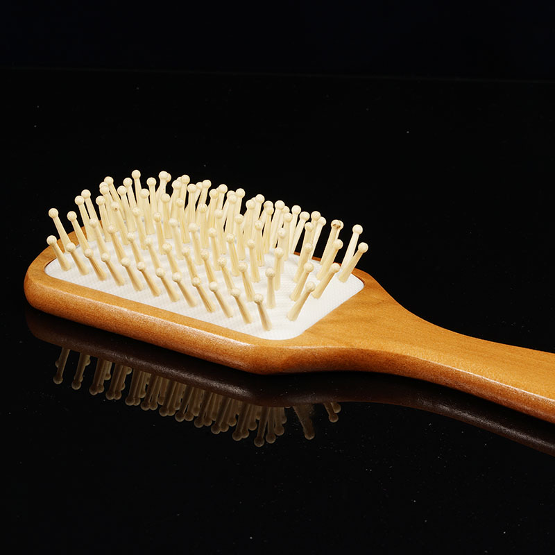 1pcs Wood Massage Comb Hair Care Paddle Brush Antistatic Combanti-static Natural Hairbrush Comb Scalp Wooden Massage