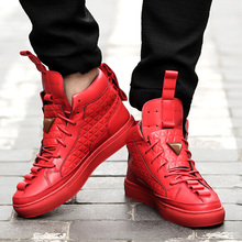 2017 New British Style Men Shoes Casual Shoes Men High Tops Fashion Hip Hop Shoes Zapatos De Hombre Winter Warm Shoes Mens