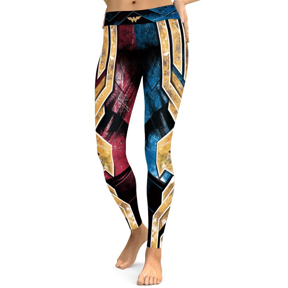 wonder woman Five Star Printed Sport Leggings high waist S-3XL legging