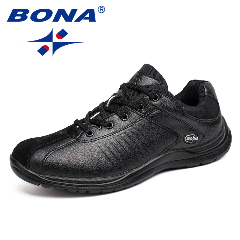 BONA New Style Men Casual Shoes Lace Up Hand Made Microfiber Men Shoes Comfortable Flat Shoes Men Soft Light Fast Free Shipping