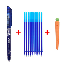12Pcs/lot Erasable Pen Refill Rod 0.5mm Blue/Black Gel Pen Refills Set for School Office Writing Supplies Exam Spare Stationery 0 5mm refill plastic gel pen 12pcs simple neutral pen black red blue high quality exam pen office school writing supplies k 35