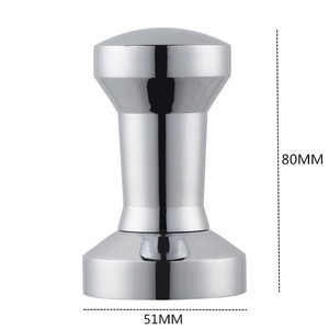 Image 2 - 51mm Solid Stainless Steel Heavy Flat Plated Base Coffee Tamper for Espresso DIY Manual Coffee Bean Mill Press Coffee Grinder