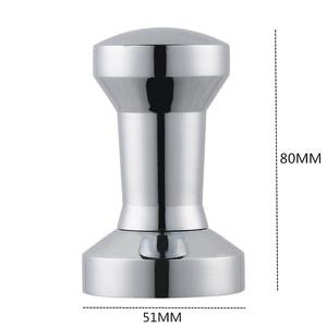 Image 2 - 51mm מוצק נירוסטה כבד שטוח מצופה בסיס קפה Tamper עבור אספרסו DIY ידני קפה שעועית טחנת עיתונות קפה מטחנות