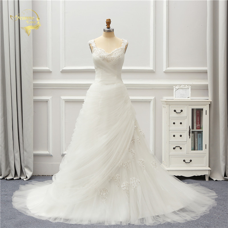 Jeanne Love Royal Sweetheart A Line Wedding Dresses 2019: Jeanne Love Tulle Wedding Dress 2019 Lace Robe De Mariage