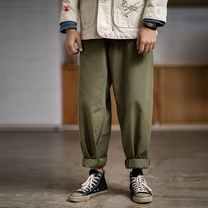 Classic Soft Grey Tide Relaxed Fit Baggy Pants for Men and Women