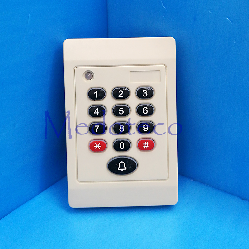 125khz Card & Password Slave Reader Wiegand Card Reader for Access Control System keypad Rfid Slave Reader with Door bell Key metal rfid em card reader ip68 waterproof metal standalone door lock access control system with keypad 2000 card users capacity