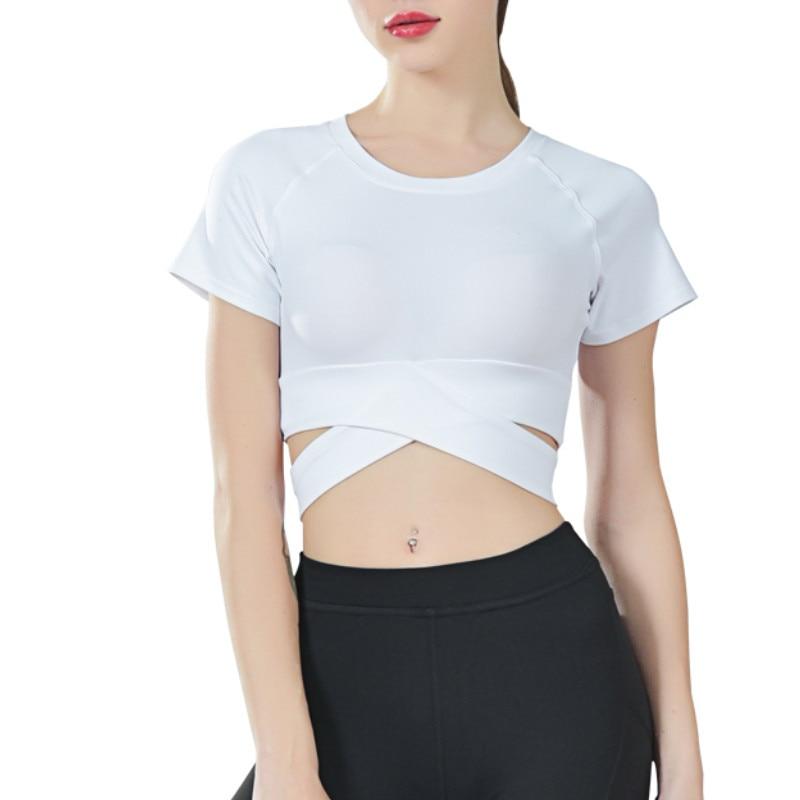 CRZ YOGA Mujer Deportiva Camiseta Corta de Manga Corta tee de Tirantes
