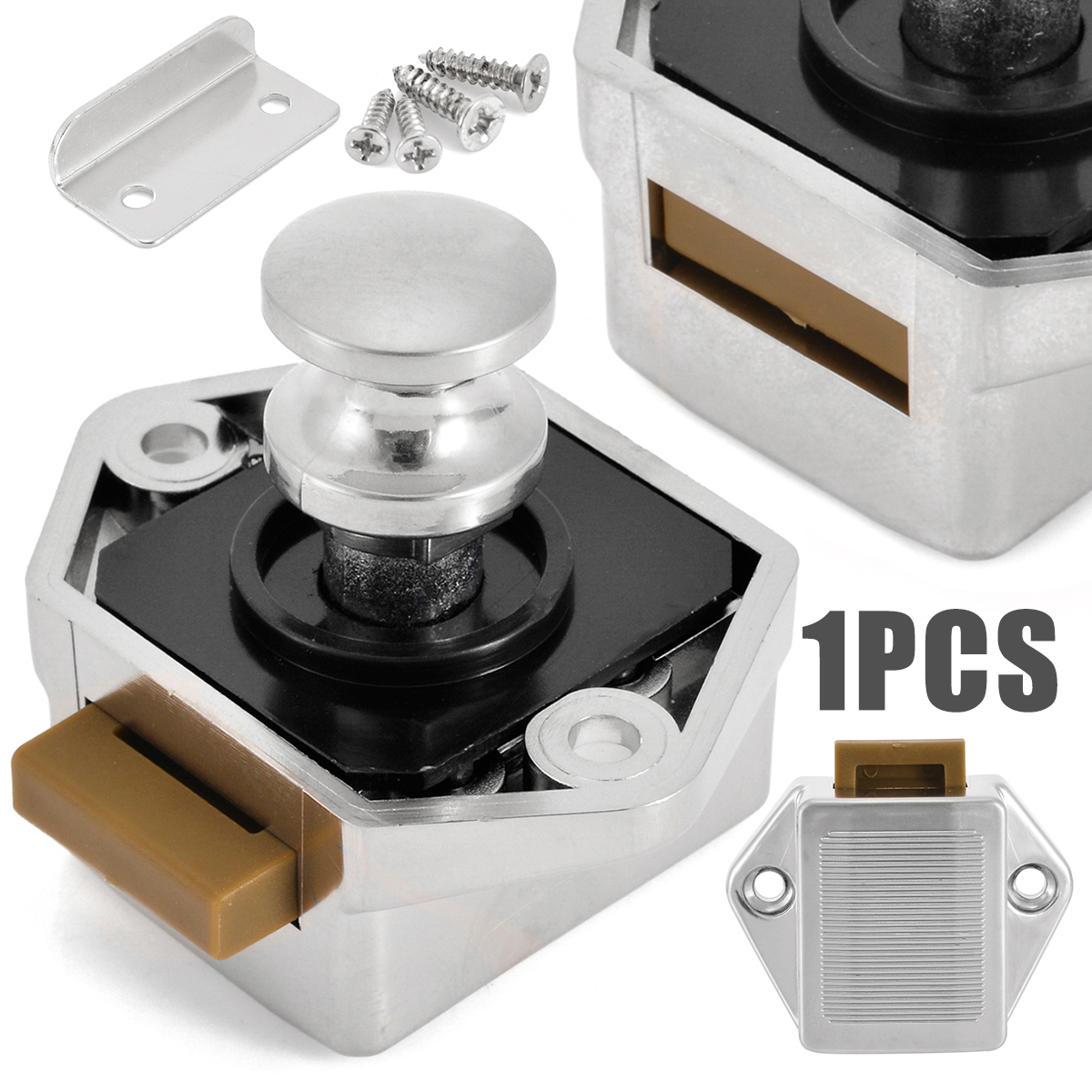 1pc Mini Push Button Cabinet Latch Abs Plastic Catch Old Style Fuse Box Lock Pop Up Furniture Knobs