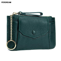 Small coin purse zipper coin bag mini ladies leather 2018 new Korean clutch wallet key chain