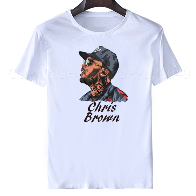 chris brown white t shirt Sublimation Print crew neck sweatshirt plus size  tops tees men s t-shirt casual shirt men tops s-xxxl ea1a84a9e20f