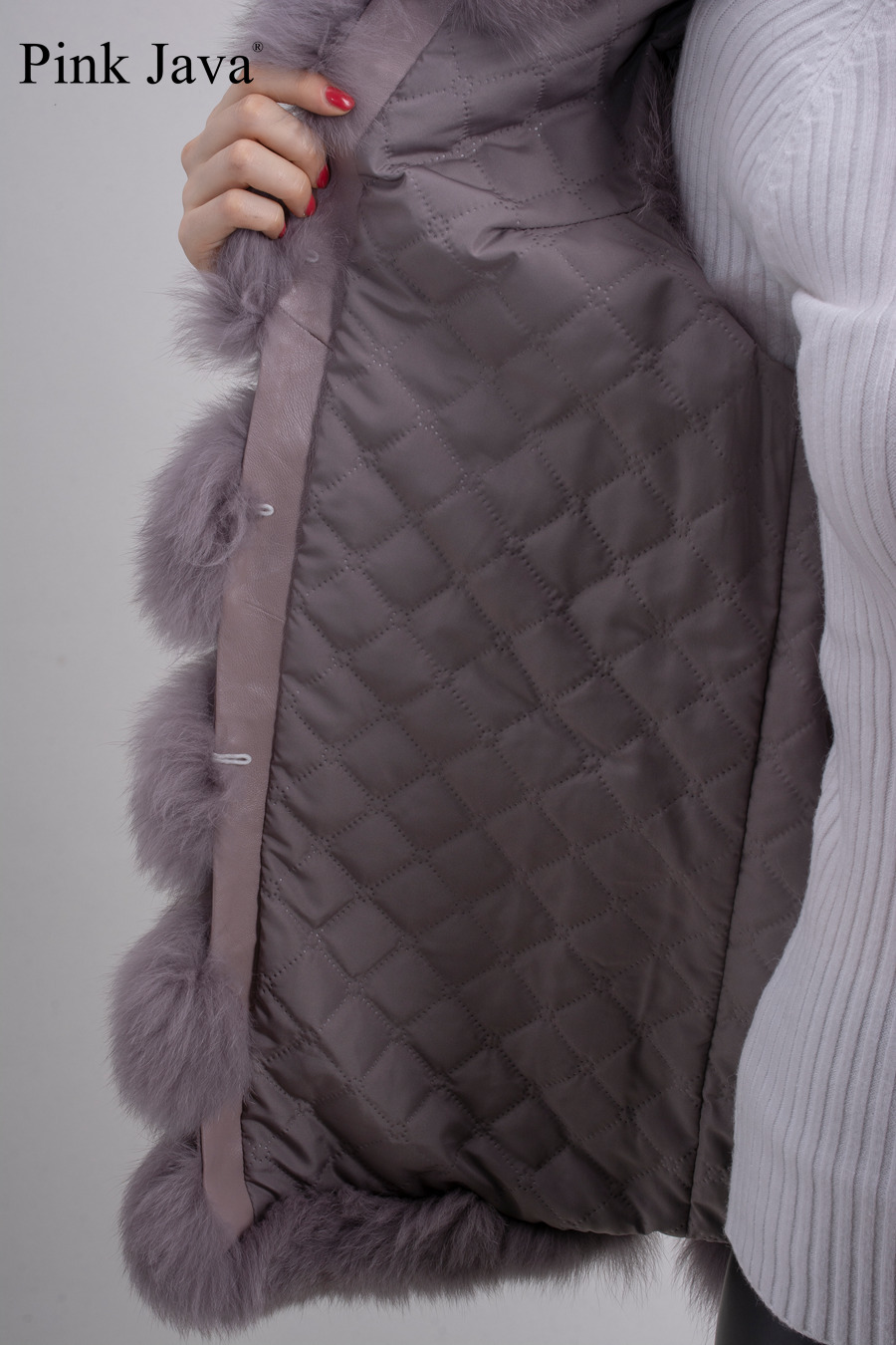 Image 5 - pink java QC8049   2016  New women real  fox fur vest high quality fur gilet hot sale fashion thick fur coat  FREE SHIPPINGgilet clothinggilets mengilet vest -