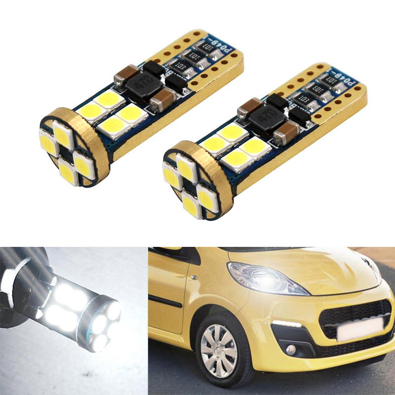 2x Canbus Car Wedge Light W5W T10 <font><b>LED</b></font> 3030 SMD Auto Lamp Bulb For <font><b>Peugeot</b></font> 307 206 301 207 2008 508 301 3008 406 507 <font><b>208</b></font> image