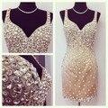 De luxo Vestidos De Baile de Cristal Curto Prom Dress Mini Vestidos Para As Mulheres Vestidos Para A Ocasião Especial Vestido Femininos