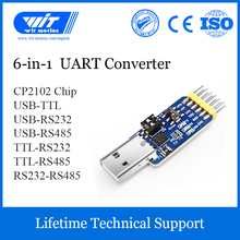WitMotion USB UART 6 In 1 Converter, Multifunctional(USB TTL/RS485/232,TTL RS232/485,232 485)Serial Adapter, with CP2102 Module