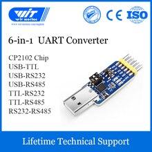 WitMotion USB UART 6 In 1 Dönüştürücü, Çok Fonksiyonlu (USB TTL/RS485/232, TTL RS232/485,232 485) seri adaptör, CP2102 Modülü