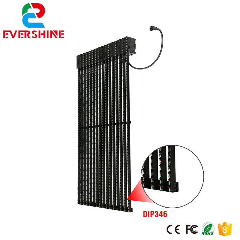 31.25mm Customize led panel outdoor led transparent display Grille screen for billboard advertising led advertising display screen diy kits p16 outdoor rgb led panel 1 pcs jn power supply 1 pcs contrller all cable