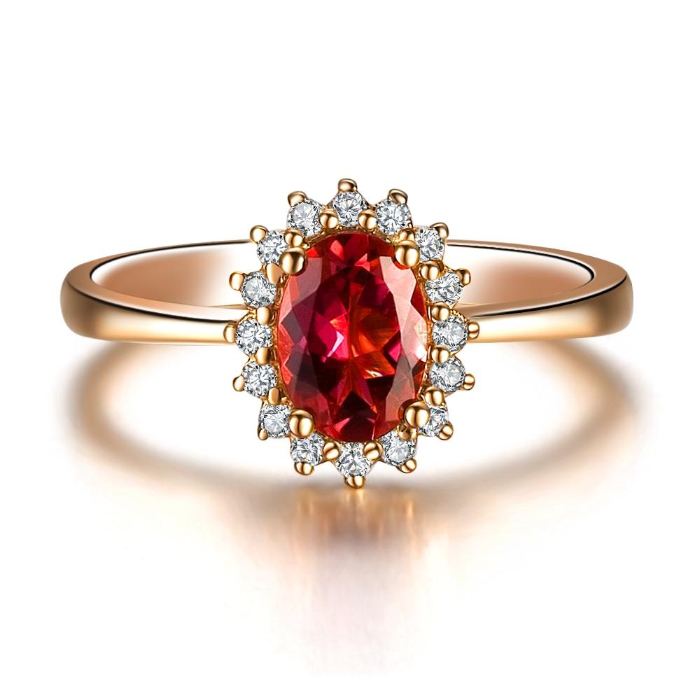 Zocai Zodiac Gem Fire Signs Sex On The Volcano 083ct Rubellite Red  Tourmaline Diamond Ring