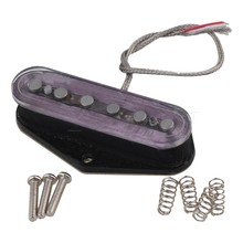 Yibuy 52mm Transparent Double Coil Humbucker Electric Guitar Neck Pickup