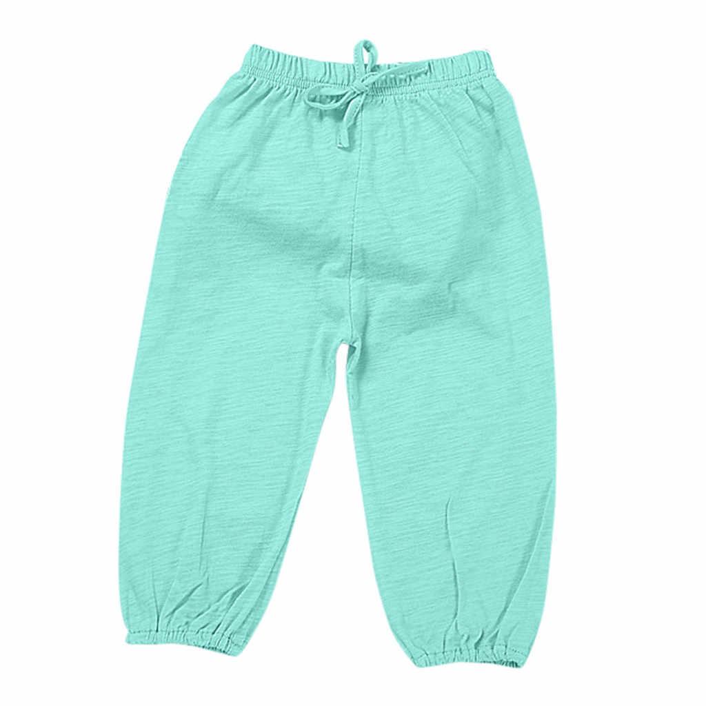 2019 Musim Gugur Bayi Pakaian Sekolah Celana untuk Anak Perempuan Anak Laki-laki Anak Anak Gadis Balita Lentera Celana Solid Kasual Harem Celana untuk anak-anak