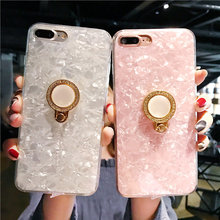 50PCS Sumgo 3D Metal Pearl Diamond Phone Case For OPPO A57 A73 A79 A83 Pink Conch