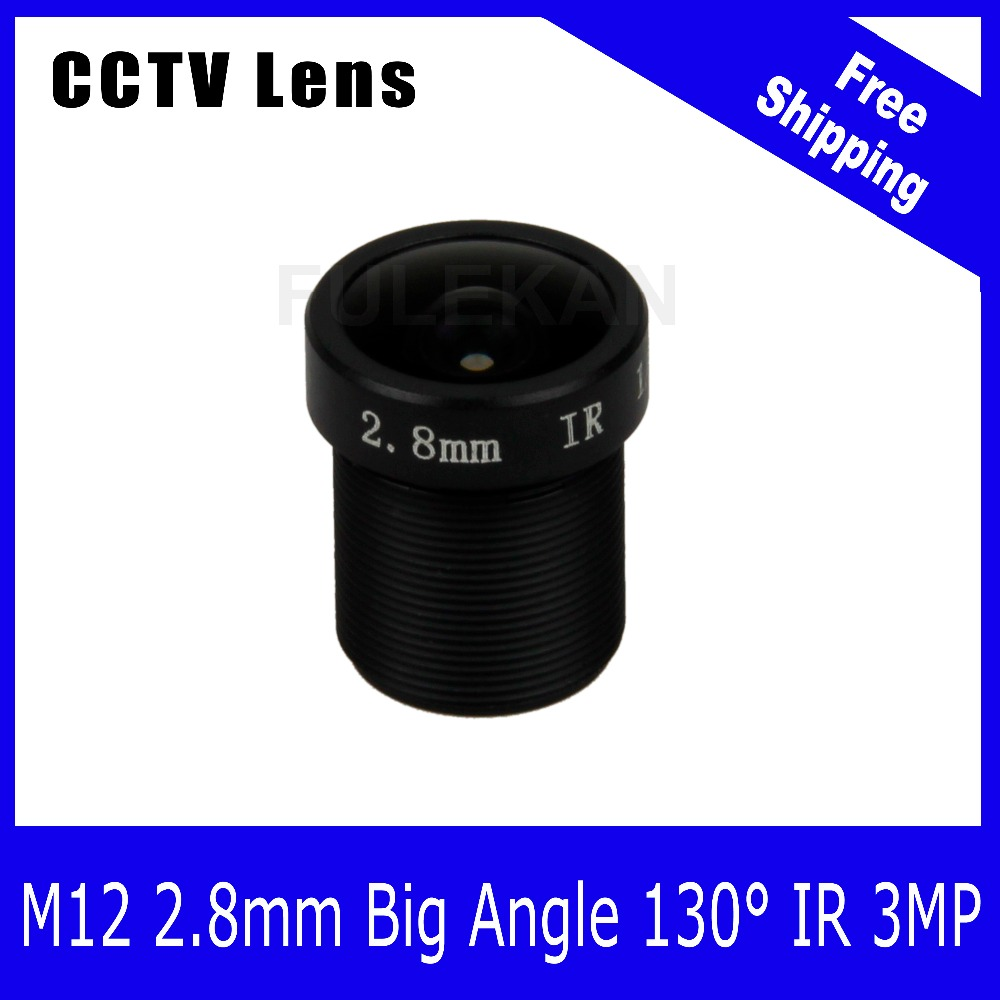 3Megapixel Fixed 1/2.7 inch 130 Wide angle Lens 2.8mm For 720P/1080P/3MP IP camera or AHD/CVI/TVI HD CCTV Camera Free Shipping tr cvi313 3 best selling new high quality 300 500 meter transmission 3 6mm megapixel lens 2 0mp full hd 1080p camera cvi