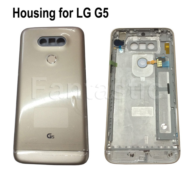 new arrival 2495f 4ce6e US $39.99 |Original Back Cover Case Replacement for LG G5, Rear Housing  Door Battery Cover for LG H868 with fingerprint sensor on Aliexpress.com |  ...