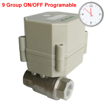 1/2'' Clock Timing control valve,110V-240VAC Timer Controlled Valve with 9 scheduel programing