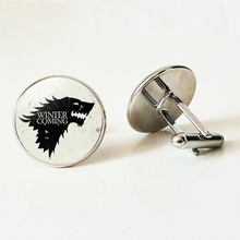 New fashion glass cufflinks mens shirt high quality power clothing accessories lion head