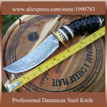 Military knife fixed blade knife stainless steel knife damascus steel blade camping knife survival tool DT124