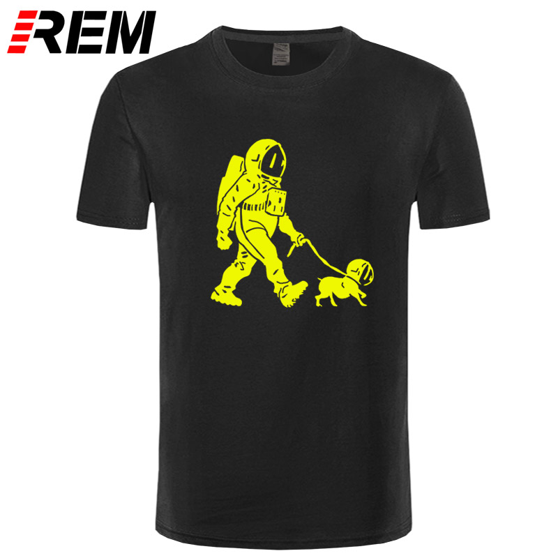 REM The Walking Dead T shirt men SpaceX Spaceship tshirt Astronaut Dog Cool T-shirt Rocket tshirt homme StarmanX Space dog Tees 5