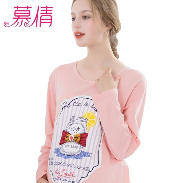 muqian sleepwear pregnancy fromwind and keep warm Maternity Clothes cotton prenatal  breastfeeding hamile pijama
