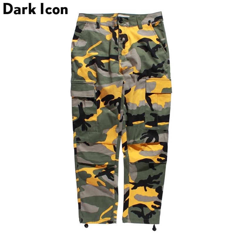 Kamuflažne moške tovorne hlače polna dolžina 2017 pomlad Multy Camo Hip Hop hlače moške ženske ženske Streetwear Toursers moški 8 barv