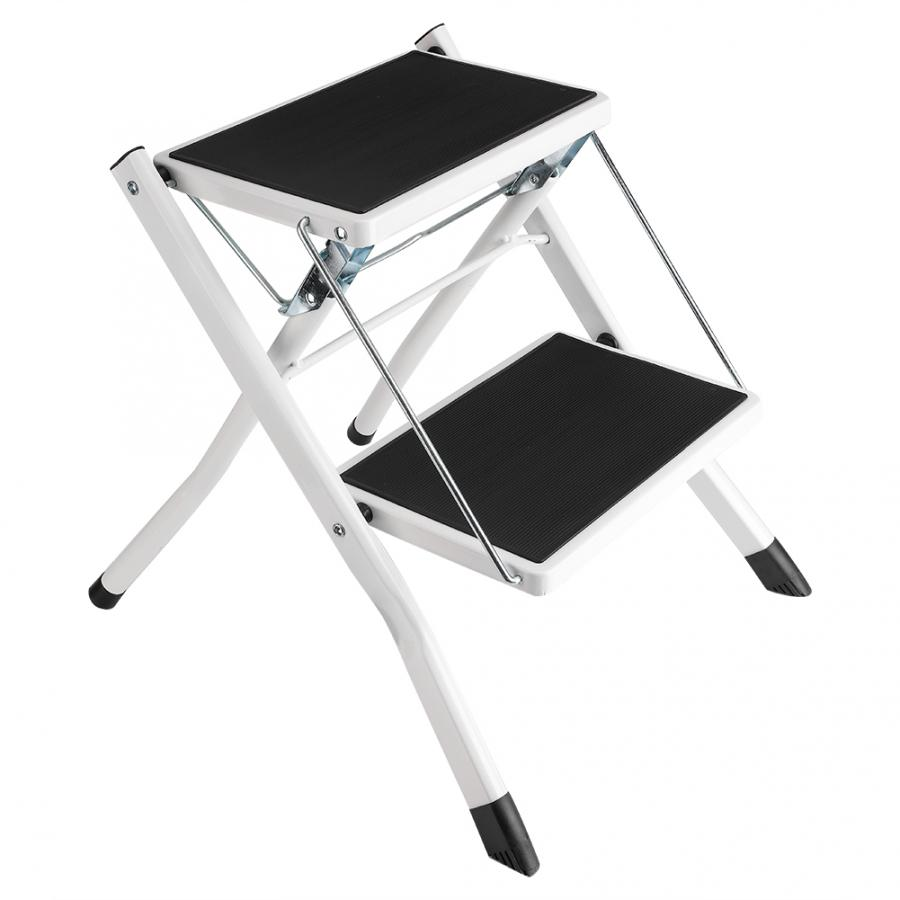 Anti- Slip Little Giant 2 Tread Safety Step Ladder Folding Step Stools With Tool Tray New