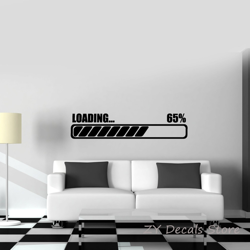 US $5 18 OFF Gamer Loading Wall Sticker Boys Room Decor Puter Notebook Laptop Gaming Decal Kids Bedroom Removable Wall Decal Tattoo