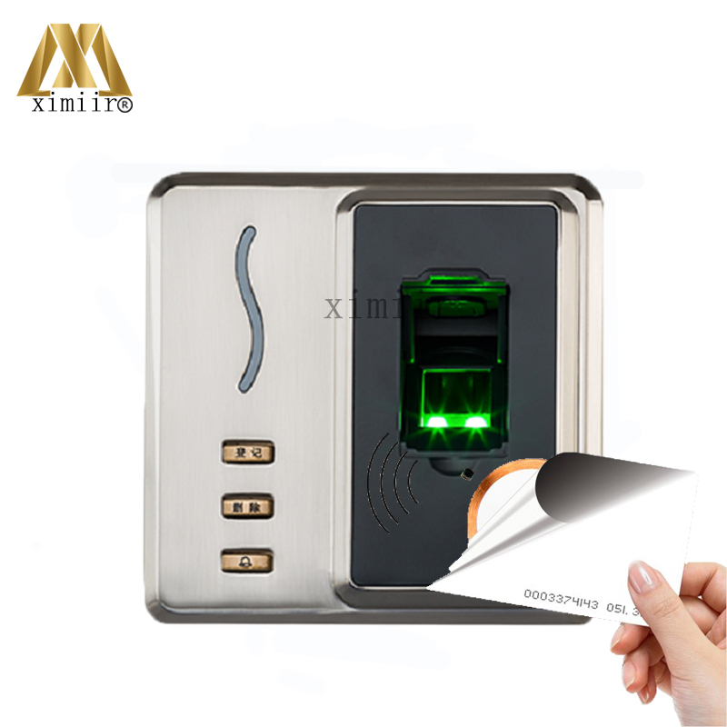 Fingerprint And 125KHZ RFID Card Access Control ZK Biometric Fingerprint Time Attendance And Access Control System SF101