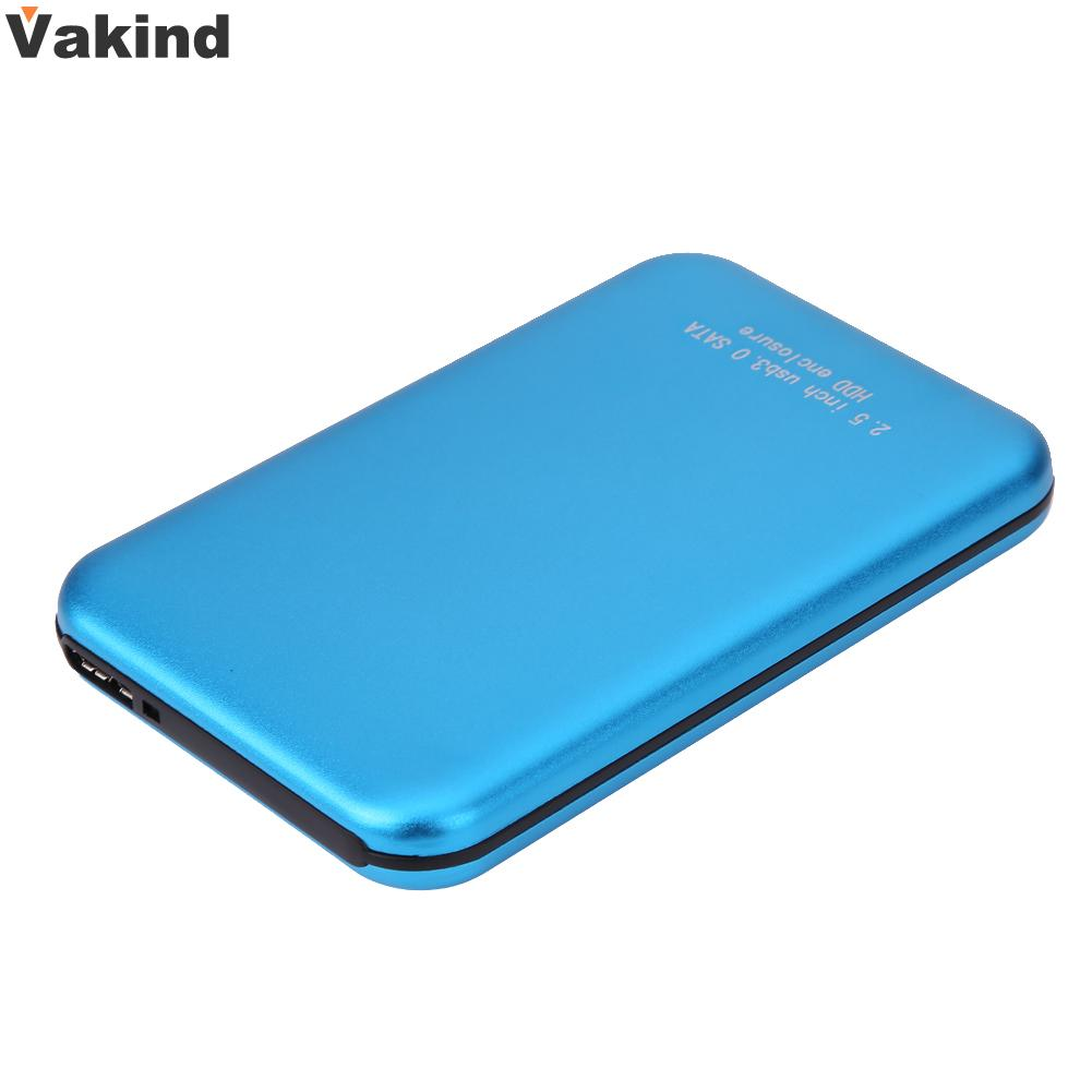 2.5 Inch High Speed 3TB USB3.0 Micro USB to SATA External Storage HDD HD Blue Aluminium Case Box Hard Disk Drive Enclosure ugreen hdd enclosure sata to usb 3 0 hdd case tool free for 7 9 5mm 2 5 inch sata ssd up to 6tb hard disk box external hdd case
